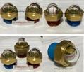 半球形凸頂玻璃油位器