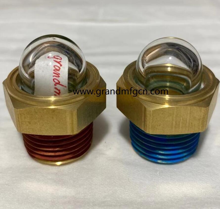半球形凸顶玻璃油位器