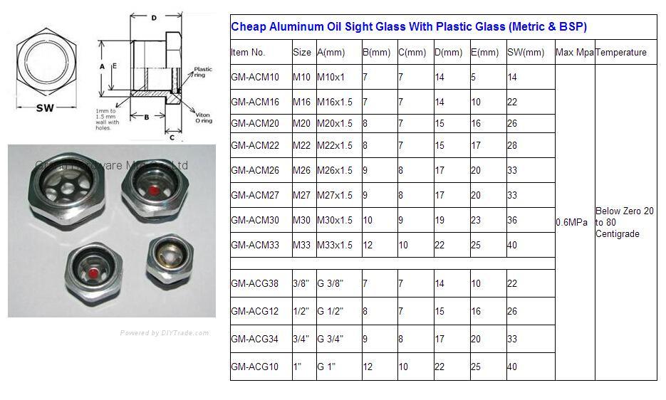 公制螺纹铝油液视窗 6