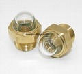 3D Brass Oil Sight Glass