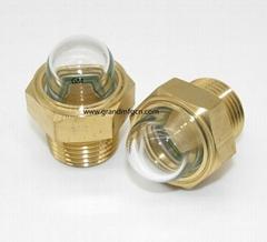 YZ易澤GM-HDG34 外凸玻璃油標視鏡堵頭減速機觀察窗油鏡G3/4