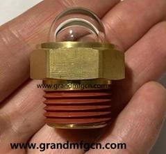 GM-HDM20 YZ 黄铜油标油位器液位器观察镜油眼