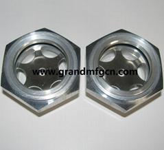 "Aluminum oil level sight glass G1-1/4"" with reflectdor GM-HAG114"