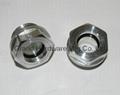 Aluminum oil level sight plug M22x1.5