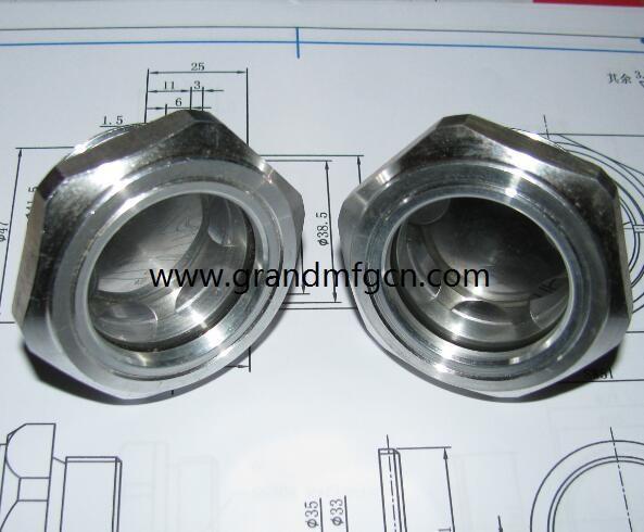 空壓機鋁制油液視鏡油鏡M20x1.5 2