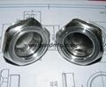 Air compressor aluminum oil level indicator sight glass M20x1.5