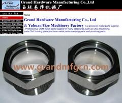 不锈钢油标油位器NPT1 1/2寸 1 1/4寸SS304不锈钢油镜现货