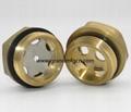 黄铜油窗视镜英制螺纹G3/8寸1/2寸3/4寸可定制