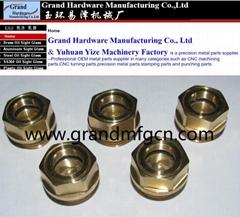 G3/8寸英制螺纹黄铜油窗油标视油镜可定制