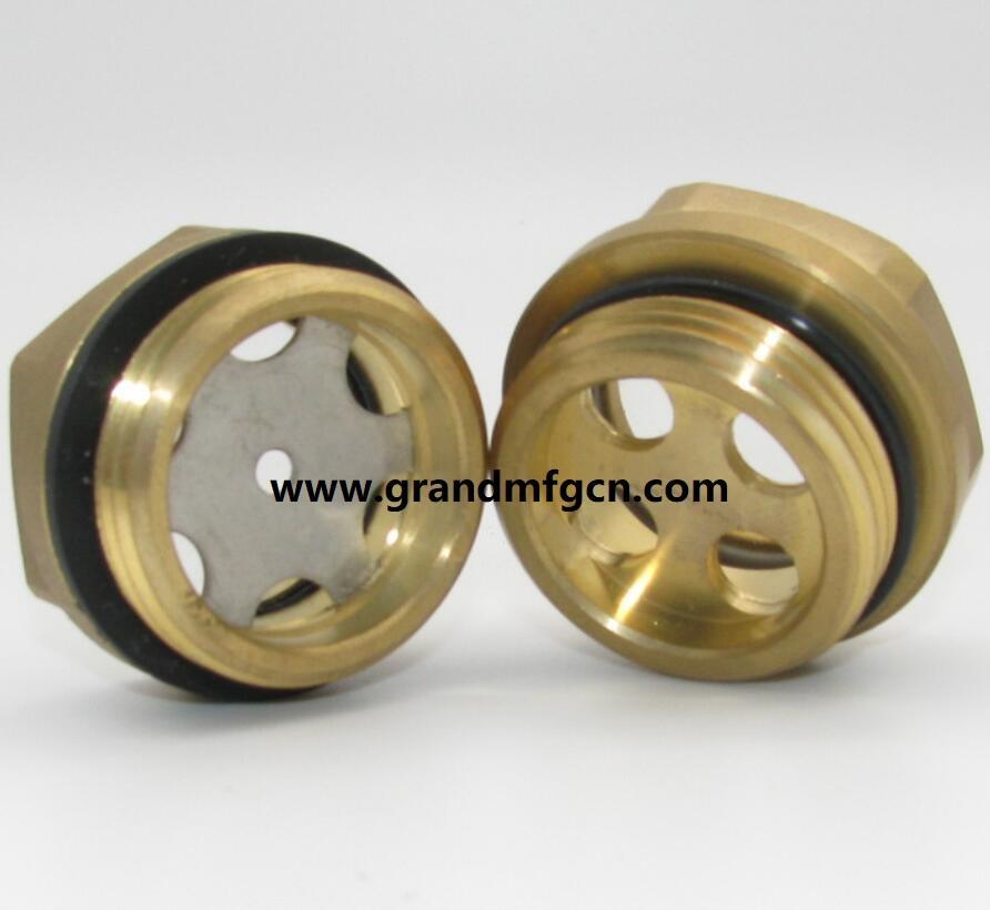 brass hexagon oil sight glass
