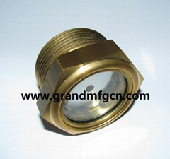 2寸黄铜液位器油位器泵用黄铜油窗油镜观察窗