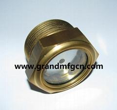 2寸黃銅液位器油位器泵用黃銅油窗油鏡觀察窗