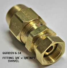 CNC lathed brass Connector for Automotive