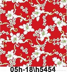 人造棉哔叽印花染色布
