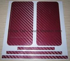 iPhone 4 Skin Protector-Carbon Fiber Skin-Deep Red