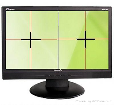PS版打孔机双彩色十字线定位成像系统 1