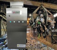 UV ozone generator for waste processing