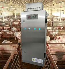 UV ozone generator for pig swine hog farm odor odour airborne diseases control