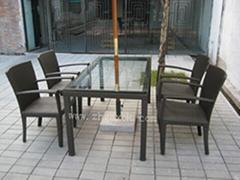 户外家具 仿藤桌椅