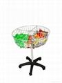 dump bin  , wire basket  stand