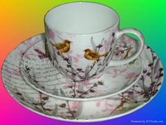 FINE BONE CHINA 3PCS TEA SET