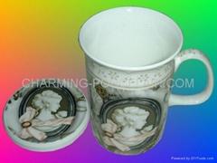 Fine Bone China Mug With Cover (Hot Product - 1*)