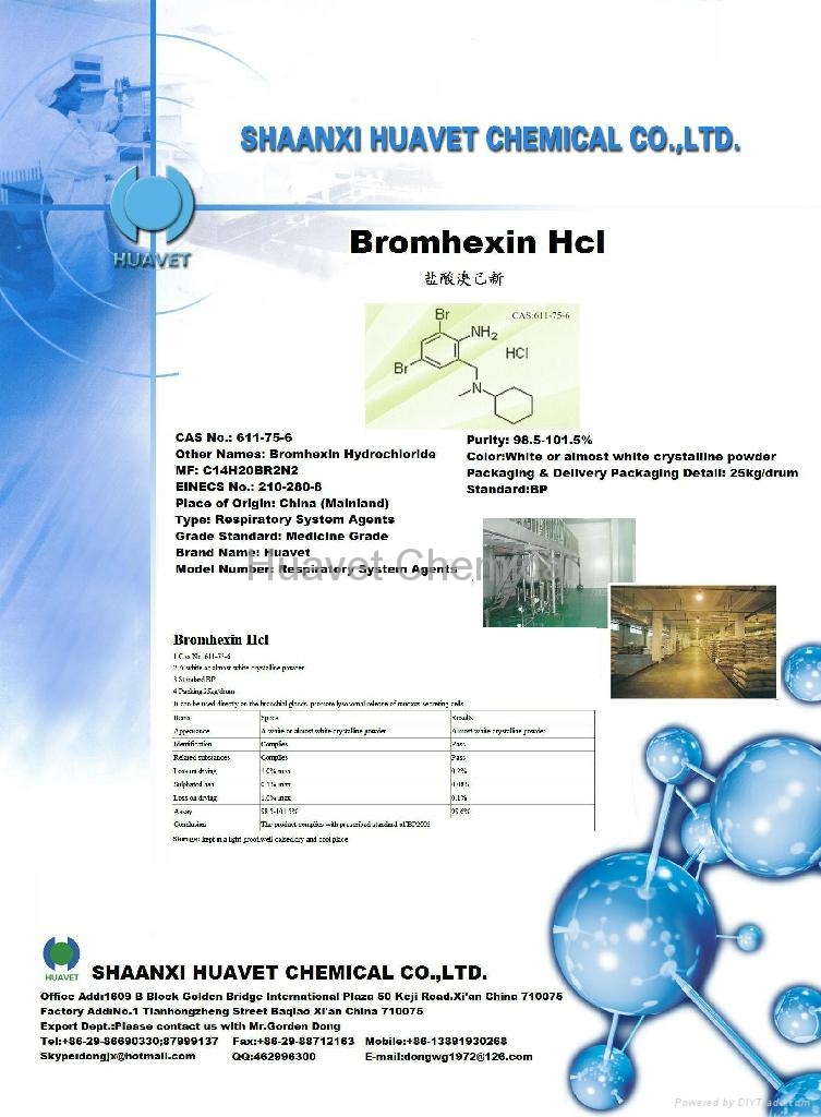 Bromhexin Hcl (CASNo.: 611-75-6) 2