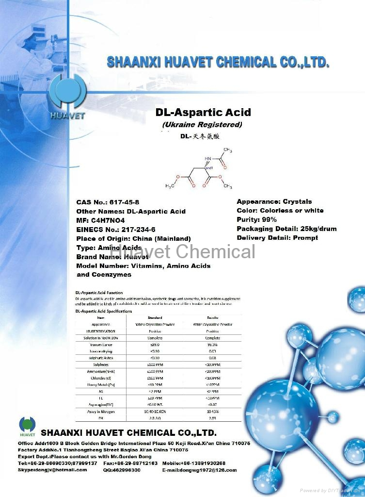 DL-Aspartic Acid (Ukraine Registered)