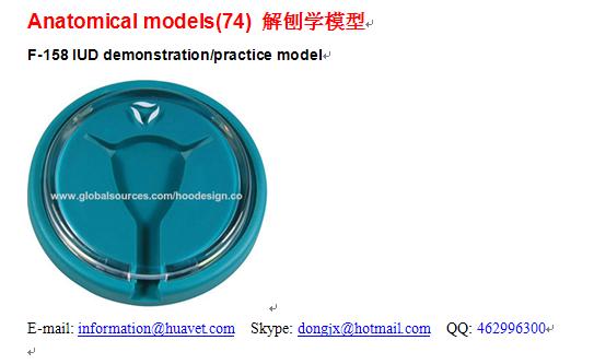 F-158 IUD demonstration/practice model