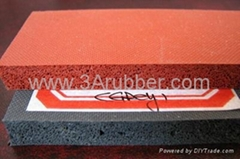 dark red silicone sponge rubber sheet special for ironning table