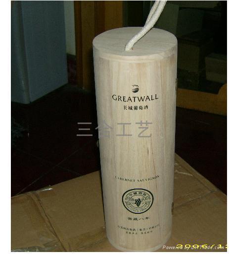 木製酒盒,紅酒木盒,長城干紅葡萄酒盒,張裕酒盒 3