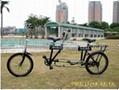 全家福双人折叠自行车