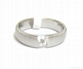 stainless steel ring /Zircon ring