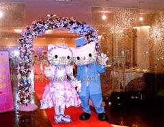 动漫人偶服装KT猫婚礼版