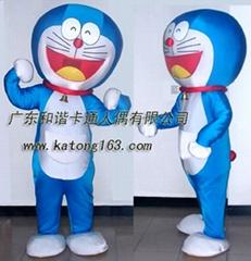 表演卡通服装机器猫