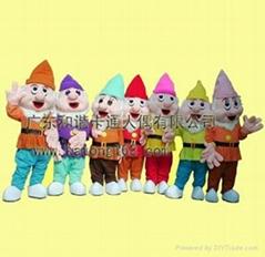 毛绒服饰七个小矮人