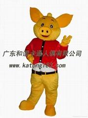 ,表演服装人偶金猪