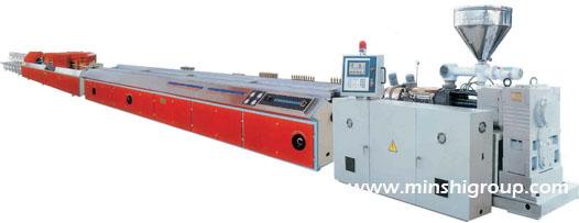 PVC Plastic door window profile extrusion production line  1