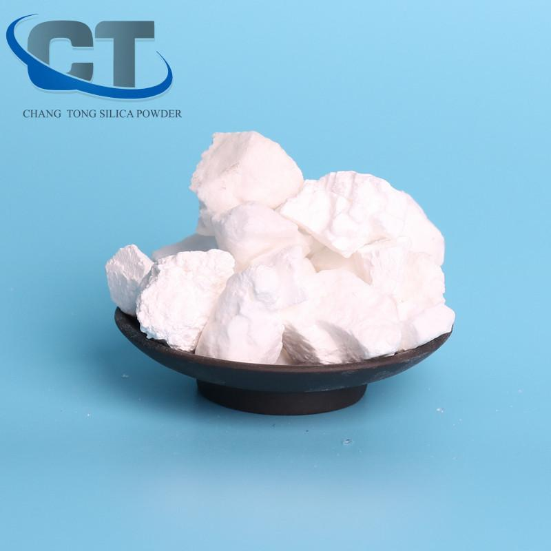 High conversion white calcination cristobalite shrink roasted silica for casting 4