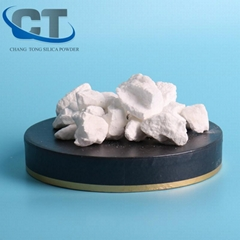 High conversion white calcination cristobalite shrink roasted silica for casting