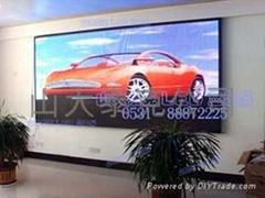 山東濟南室內P7.62全彩顯示屏