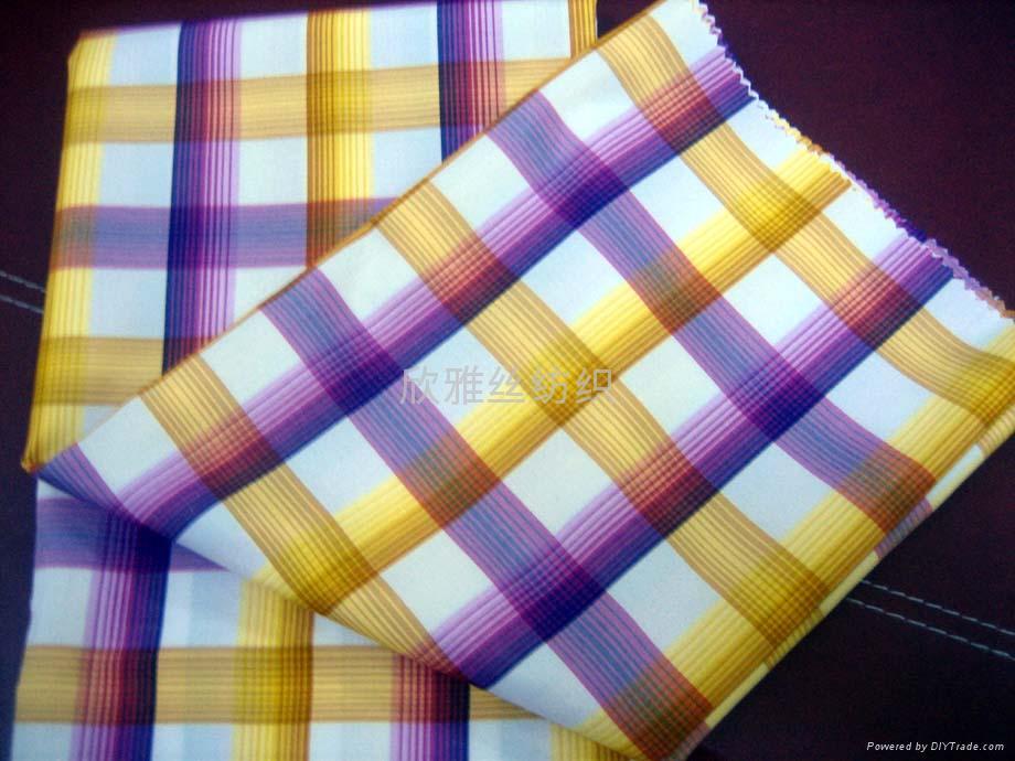 全棉色织提花衬衫布 1