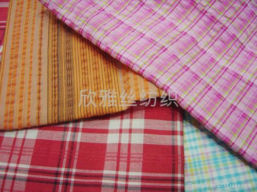 全棉色织提花衬衫布 2