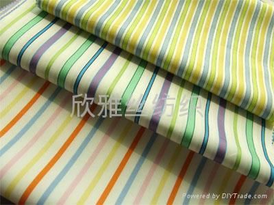 全棉色织提花衬衫布 3