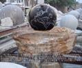 石雕喷泉风水球鸿福轮水景 2