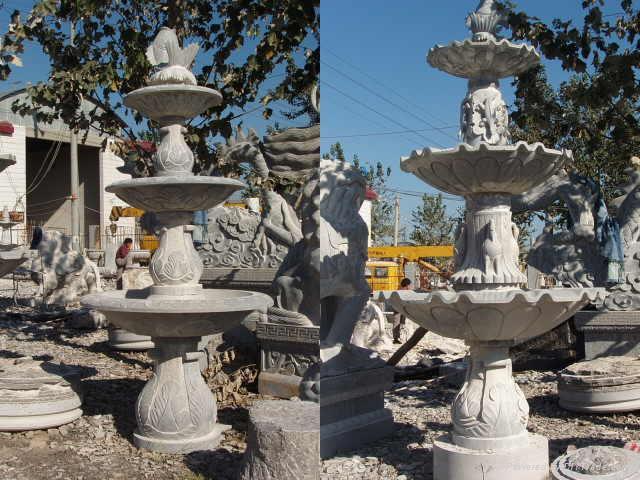 石雕喷泉风水球鸿福轮水景 5