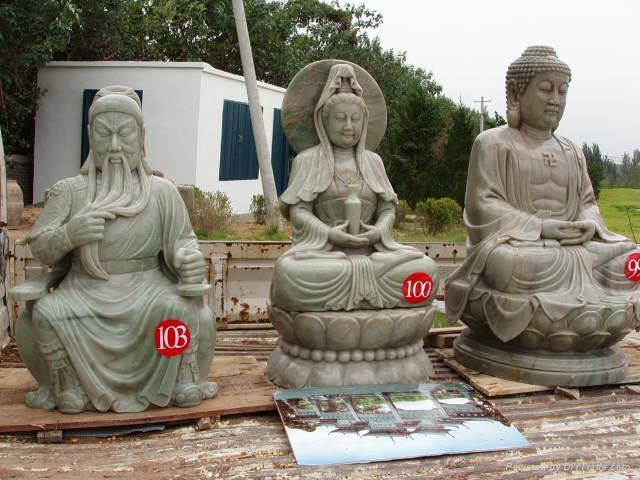 石雕佛像观音菩萨 2