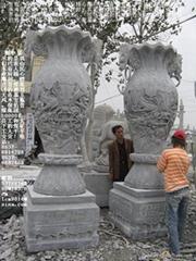 石鼎香爐石雕寶瓶花瓶