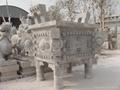 石鼎香炉石雕宝瓶花瓶 4