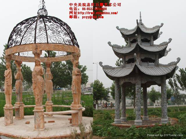 石雕牌坊牌楼石塔石亭 3